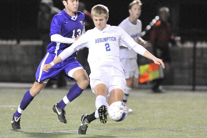 Hounds Men's Soccer Falls to Southern N.H., 3-0