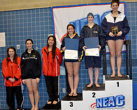 GU women's swim team finishes fourth at NEAC championships