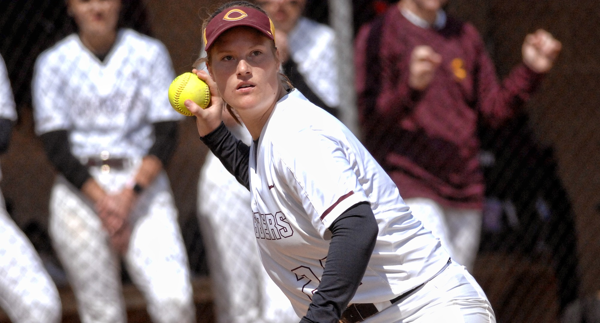Junior Taylor Erholtz was the lone Cobber player to have a hit in each game in Concordia's split with Elizabethtown and Loras.