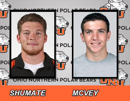 Senior Lucas Shumate and sophomore Ian Mcvey lead Men's Track & Field at All-Ohio Championships