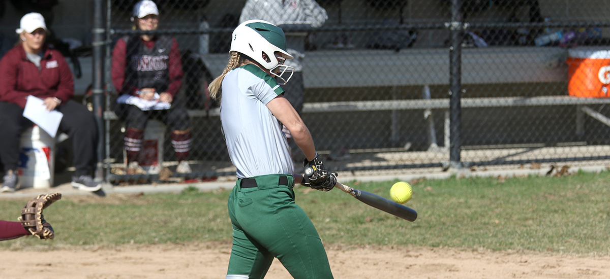 Softball team collects a split with Nazareth in Empire 8 action