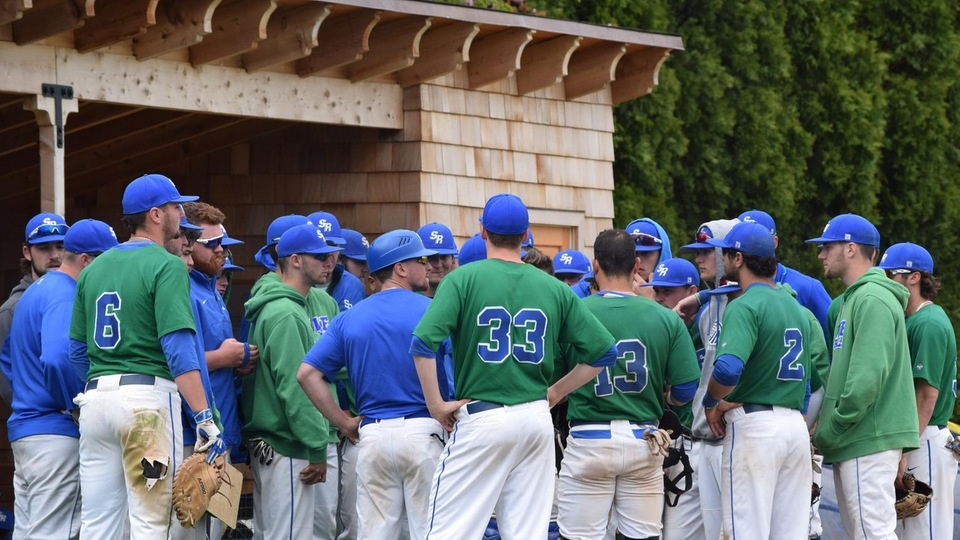Defending Commonwealth Coast Conference (CCC) baseball champion Salve Regina University (#20/23 national rankings) will host a best-of-three series with second-seeded Endicott College for the 2017 crown at Reynolds Field in Newport. (Photo by Jordin Bonacorsi)