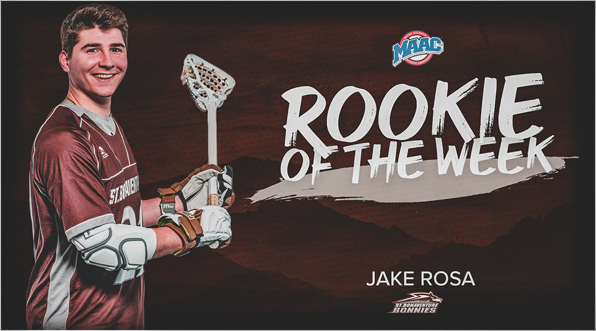 Rosa Named MAAC Men's Lacrosse Rookie of the Week