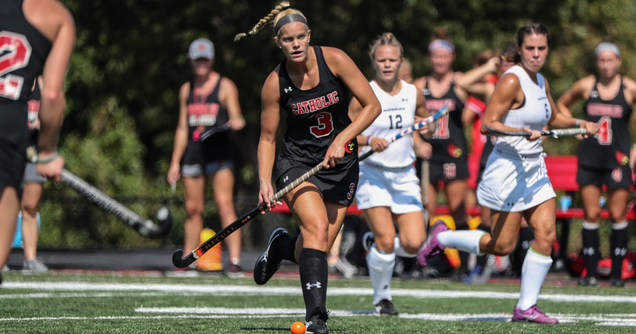 Anderson's Hat Trick Lifts Catholic Past Goucher, 8-0