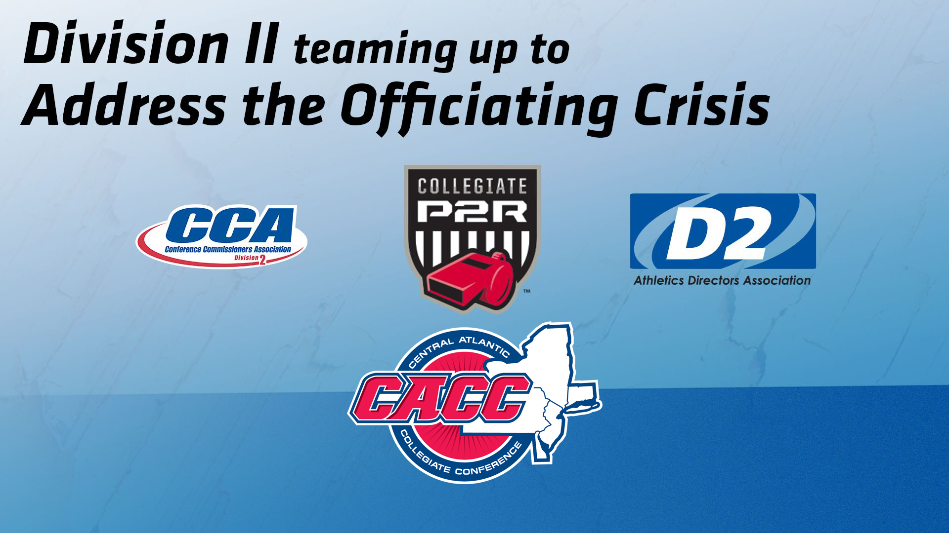 CACC Partners with D2CCA & D2ADA in Addressing Officiating Crisis