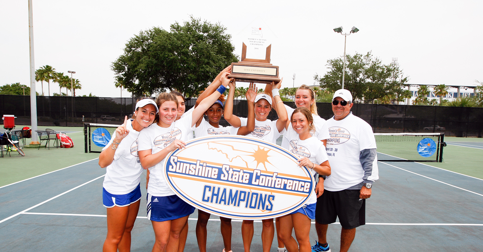 Champs Once Again! Women's Tennis Ends Barry's SSC Reign
