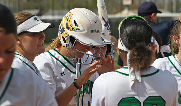 Copyright 2017; Wilmington University. All rights reserved. File photo of Kailtyn Slater after her home run against Goldey-Beacom, taken by Frank Stallworth.