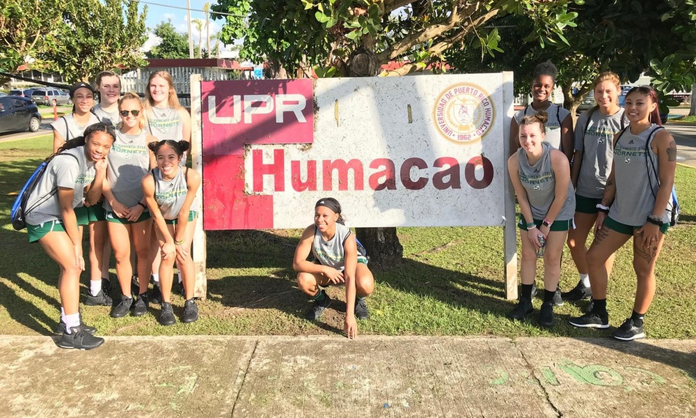 WOMEN'S BASKETBALL DELIVERS DONATIONS TO UPR HUMCAO, PLUS MEETS UPR WOMEN'S BASKETBALL TEAM IN TODAY'S PLAYER BLOGS