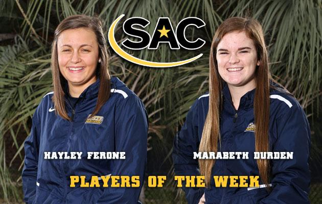 Coker's Ferone and Durden Sweep SAC Lacrosse Weekly Awards