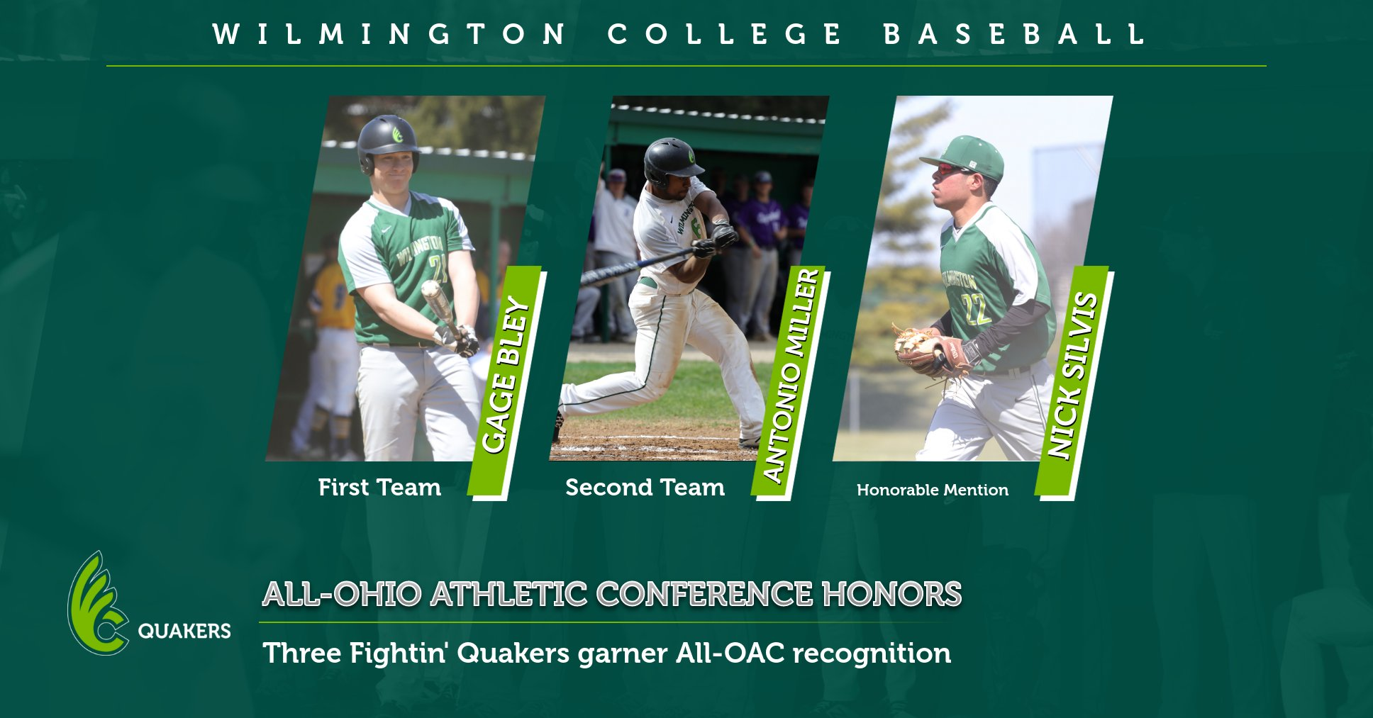 Baseball Places Three on All-OAC Teams