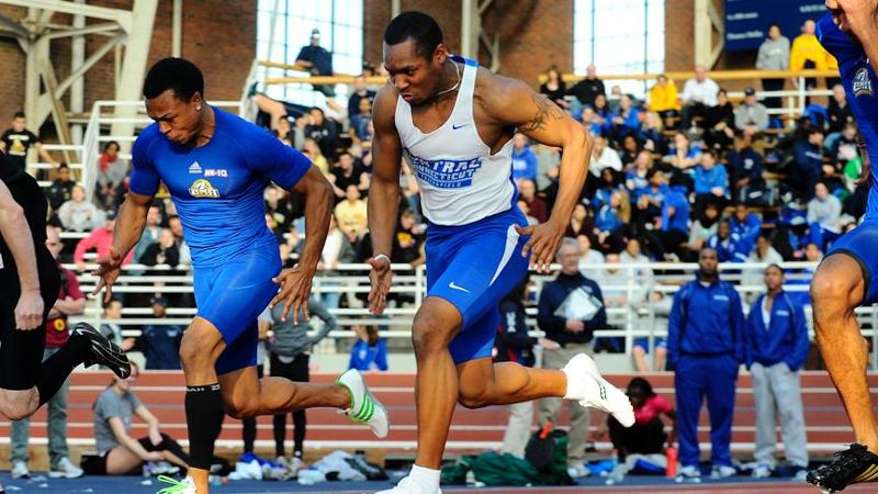 Men's Track & Field Finishes 4th at NECs