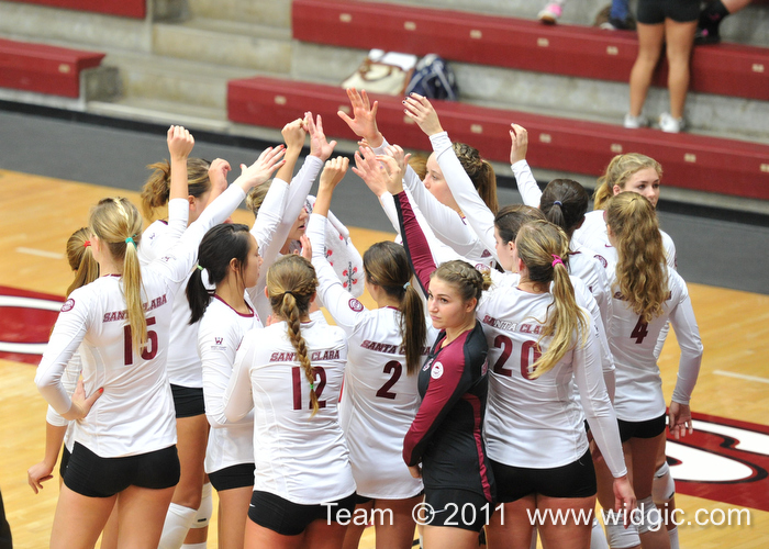 Volleyball Falls to No. 25 Saint Mary's