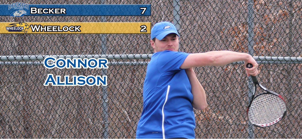 Men's Tennis downs Wheelock, 7-2