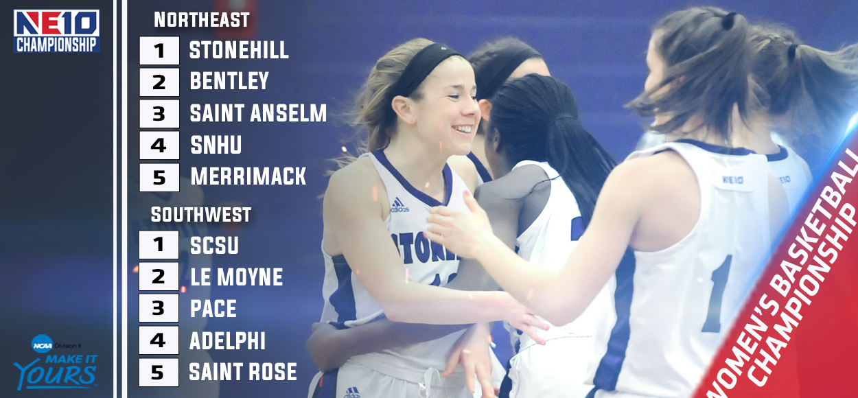 Embrace The Championship: Southern Connecticut, Stonehill Earn Top Seeds for Upcoming NE10 Women's Basketball Championship
