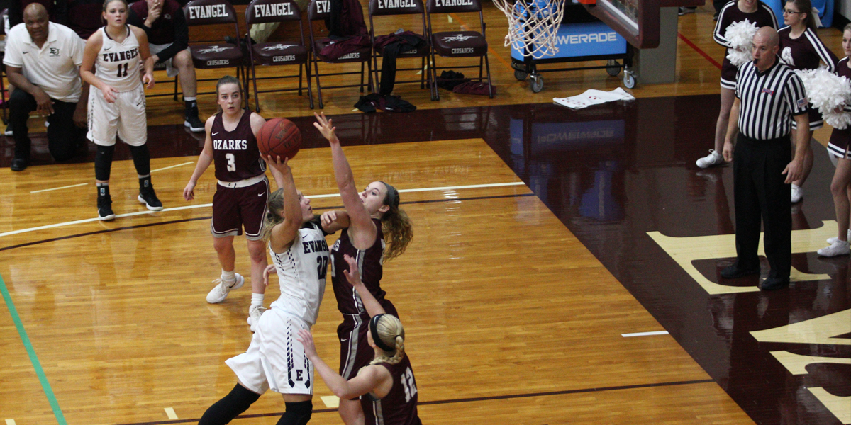 Strong Defense Thwarts Evangel Women vs College of the Ozarks
