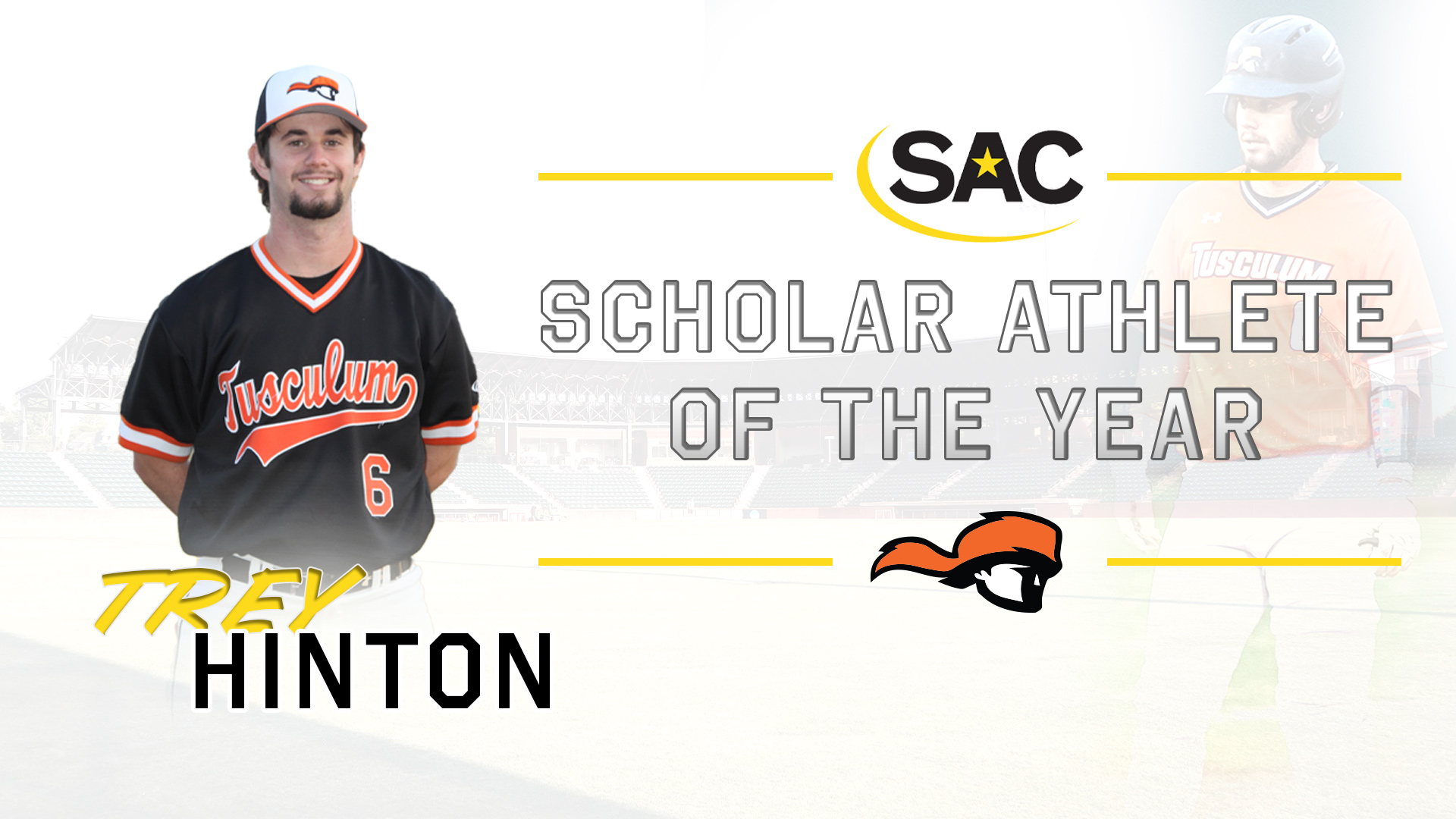 Hinton tabbed SAC Baseball Scholar Athlete of the Year