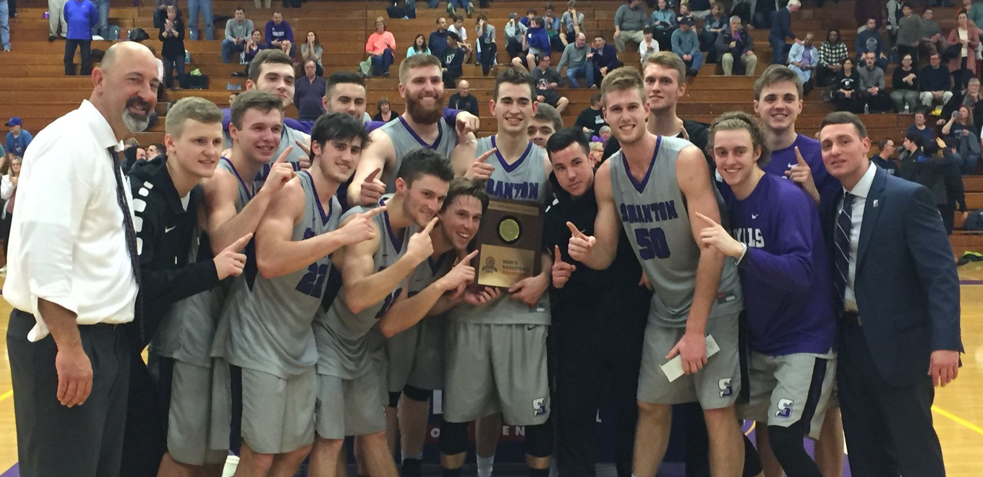 The men's basketball team captured its seventh Landmark Conference championship in the conference's 10-year history on Saturday.