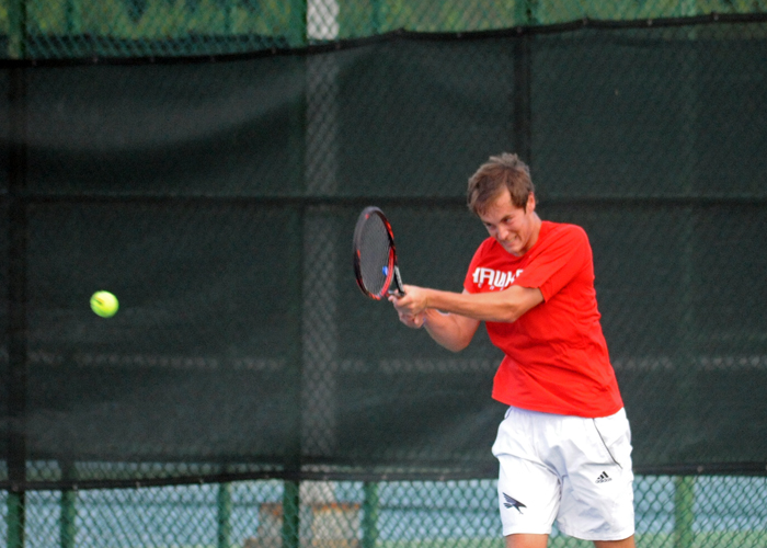 Senior Tyler Chaffee teamed with Aaron Triplett for an 8-4 win at No. 3 doubles