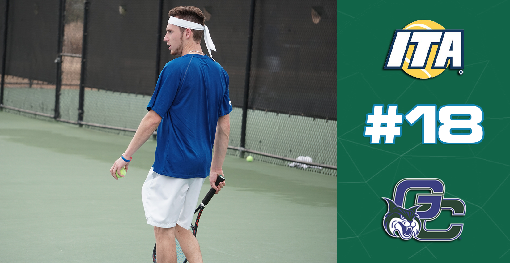 GC Men's Tennis Ranks #18 in ITA Poll
