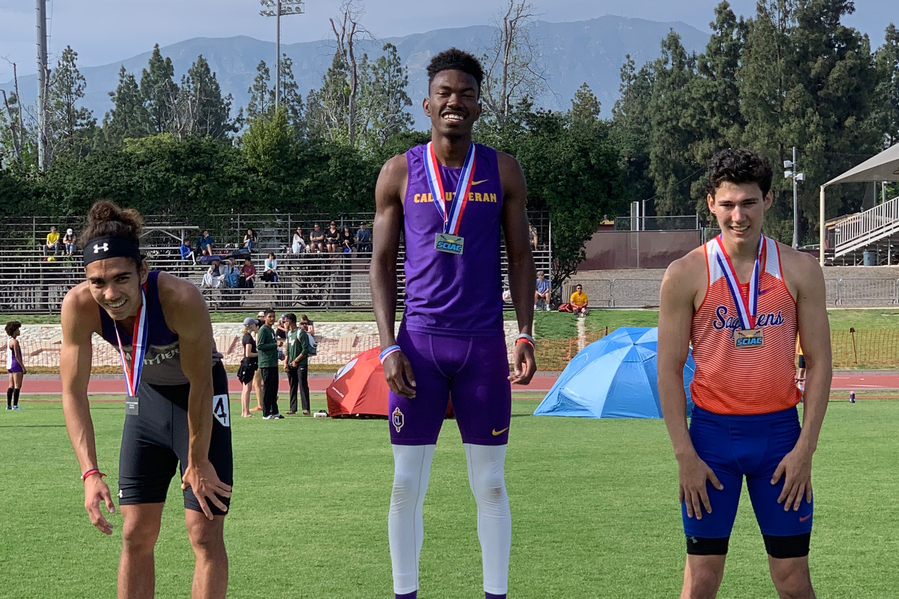 Brodnax Tops Podium in the 400m Dash at SCIAC Championships Finale