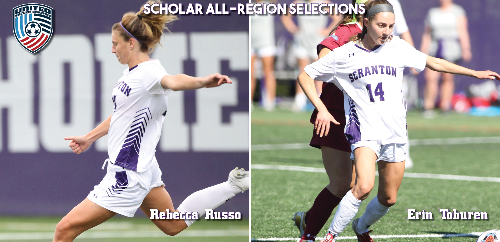 Russo, Toburen Nab United Soccer Coaches Scholar All-East Region Selections