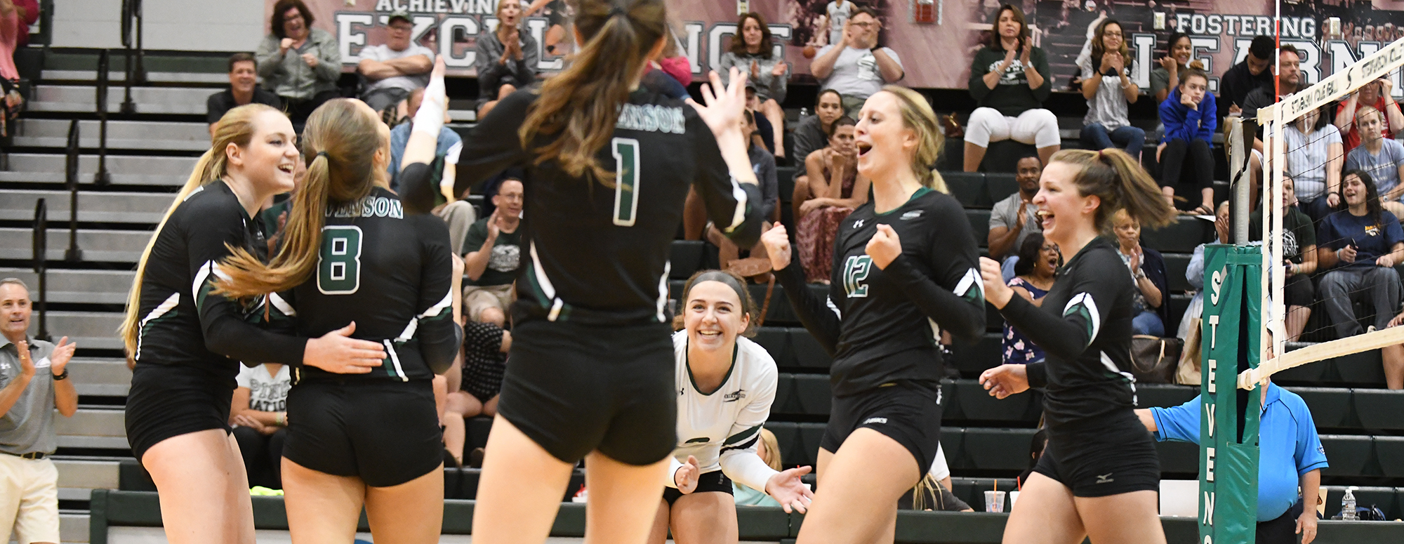 Women's Volleyball Sweeps Gallaudet for 16th Win