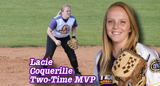 Coquerille named MVP; Six accept softball team awards