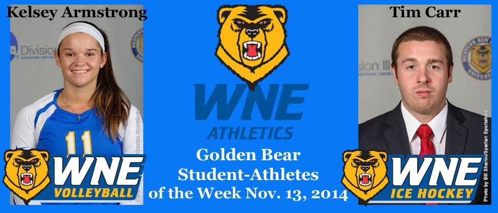 Kelsey Armstrong, Tim Carr Chalk Up Latest WNE Student-Athletes of the Week