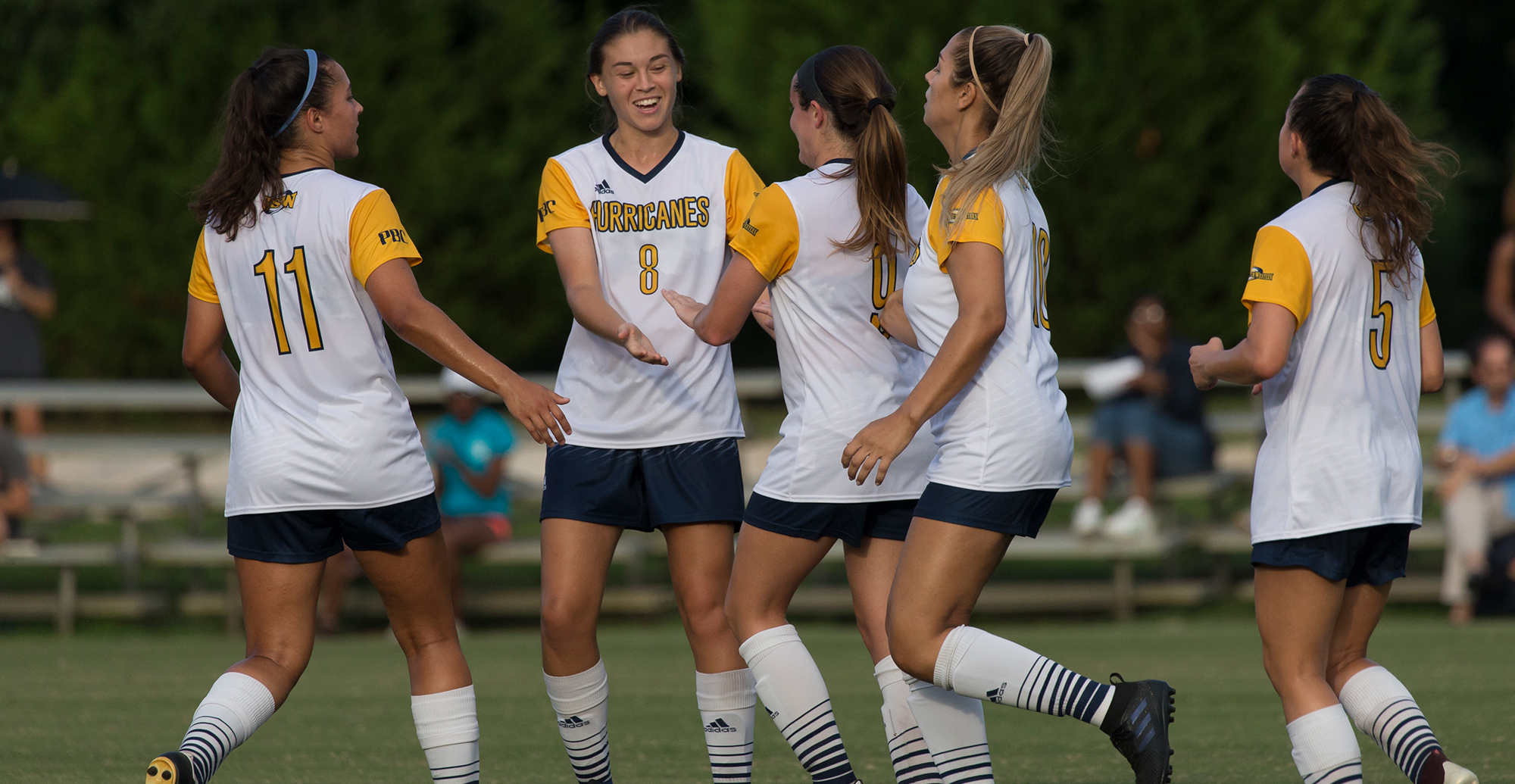 Hawkins Two Goals Lead Lady Canes to Victory