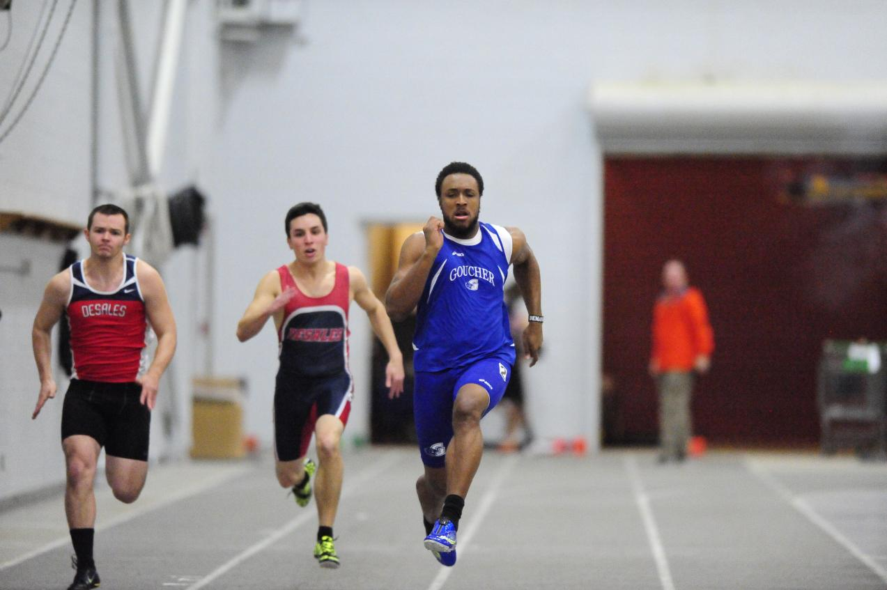 Evans Places Third in 200-Meter Dash, Fourth in 60 Dash