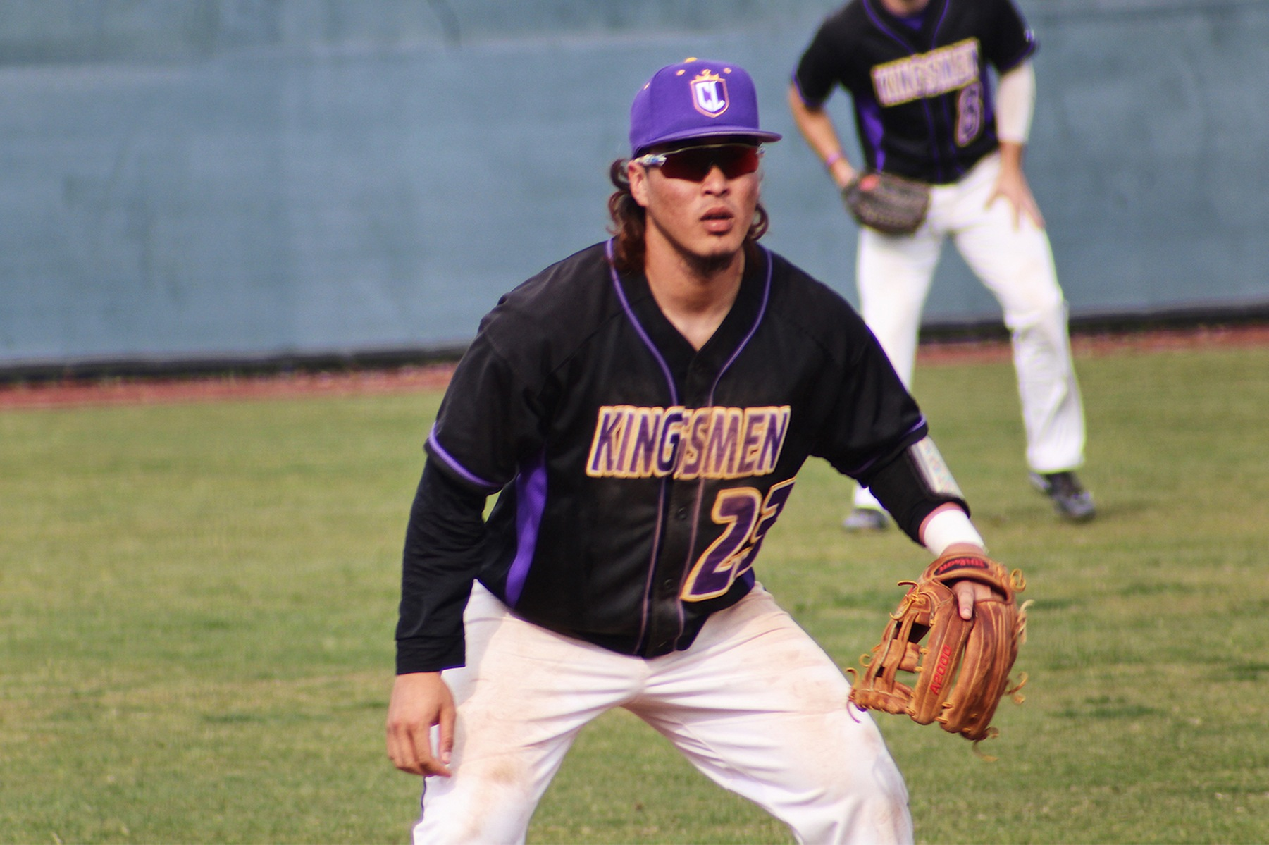Ryne Yamashiro delivered a clutch bases-clearing double to spark a nine-run rally for the Kingsmen offense. (Photo Credit: Mariah Zermeno)