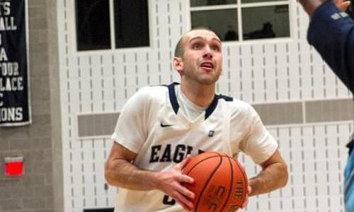 Riester's 28 Leads UMW Men's Basketball to 80-60 Win over York; Eagles' Win Streak at Eight