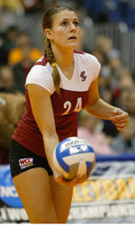 No. 8 Santa Clara Volleyball Ends Day With Sweep of Georgetown