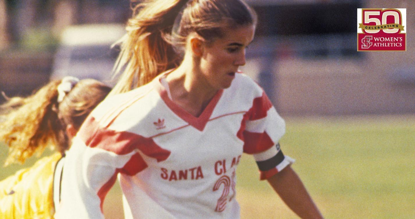 BACK IN MY DAY: Gold Medalist Brandi Chastain '91 Looks Back As Part of the 50th Anniversary of Women's Athletics