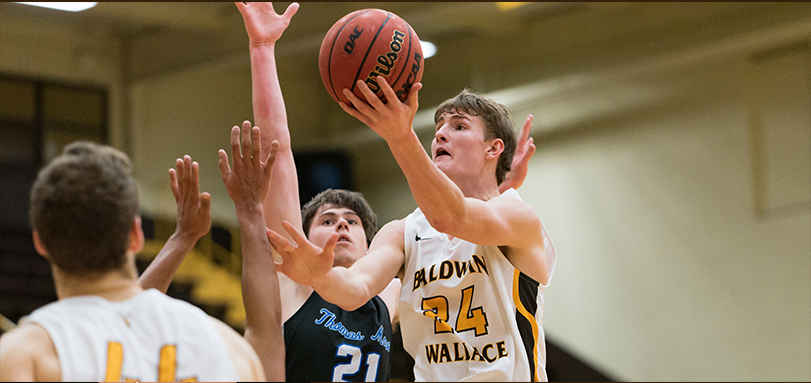 Junior Tyler Colombo had a career and game high 20 points to lead BW to a victory in their home opener (Photo Courtesy Jesse Kucewicz)
