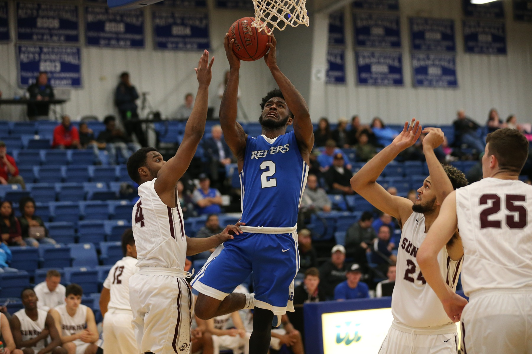 Jevon Smith scored 19 points in #21 Iowa Western's 89-63 victory over Iowa Central to open the 2018 portion of the Reivers 2017-18 men's basketball schedule.