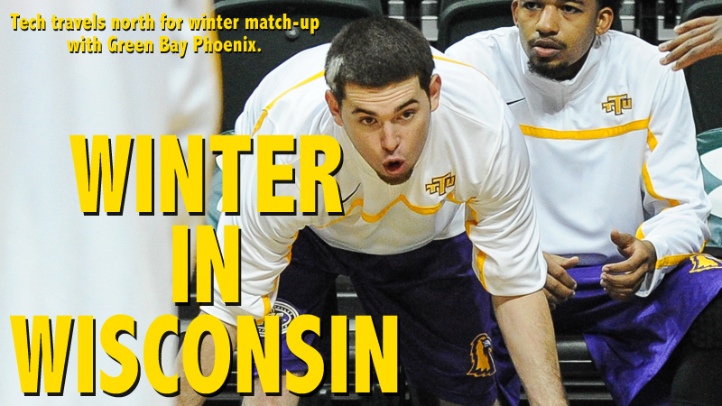 Tech men's basketball takes on Green Bay in snowy Wisconsin