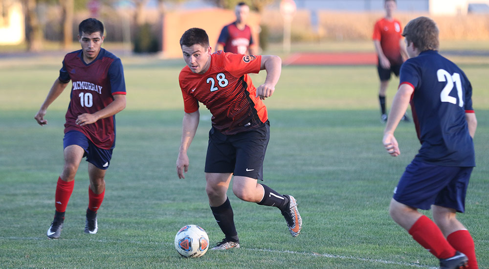 Men's soccer comes up short at Iowa Wesleyan