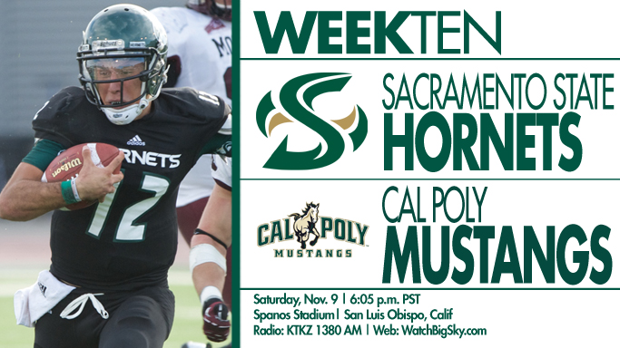 FOOTBALL TRAVELS TO CAL POLY FOR IN-STATE SHOWDOWN