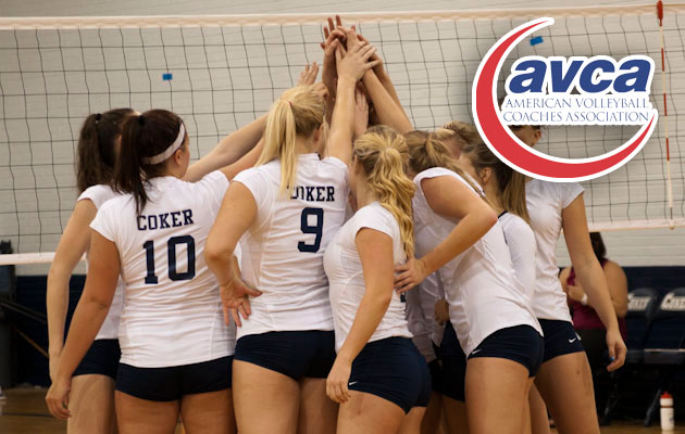 Coker College Women's Volleyball Honored by AVCA