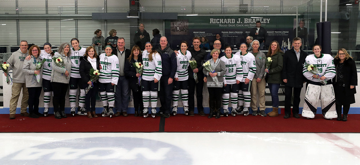 Women's Ice Hockey Completes Weekend Sweep Of SUNY Canton On Senior Day, 3-0