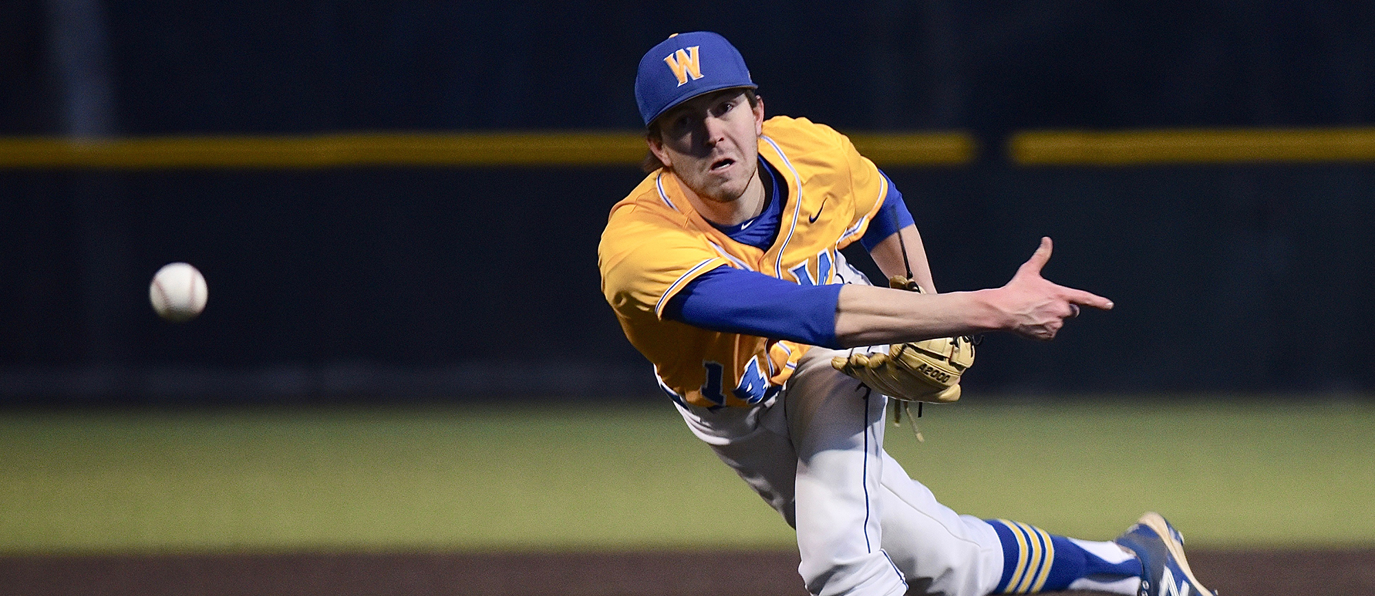 Junior Patrick Westerlind (1.1 IP, 0 ER) was among five Golden Bear pitchers that combined to shut out Case Western Reserve in Western New England's 2-0 win over the Spartans on Friday. (Photo by Jim Balderston)