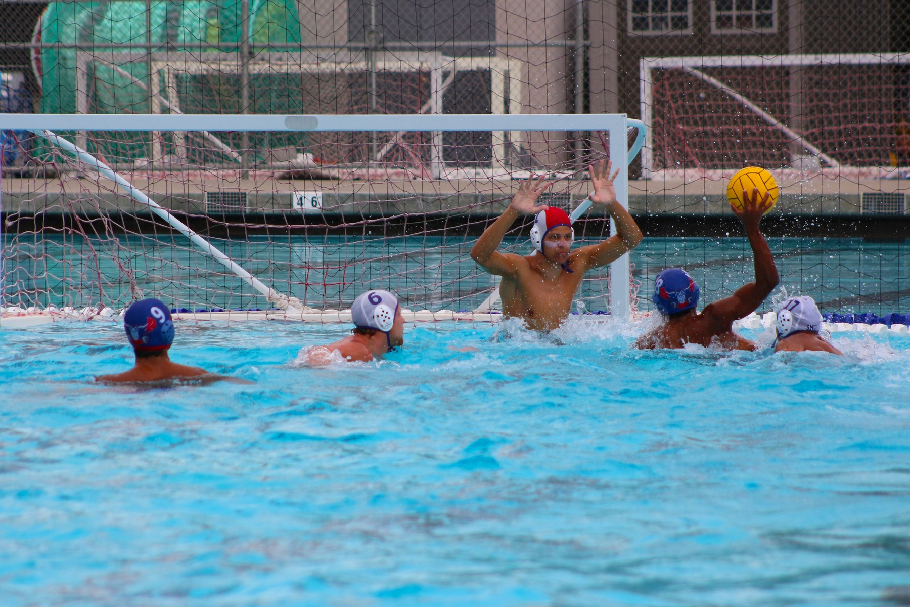 Jordan Scott flexes on the Santa Monica goalie. Scott put the shot into the back of the net. Image: Chris Peterson