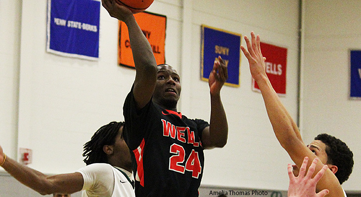 Morrisville Edges Wells 76-73 In Men's Basketball Playoff Game