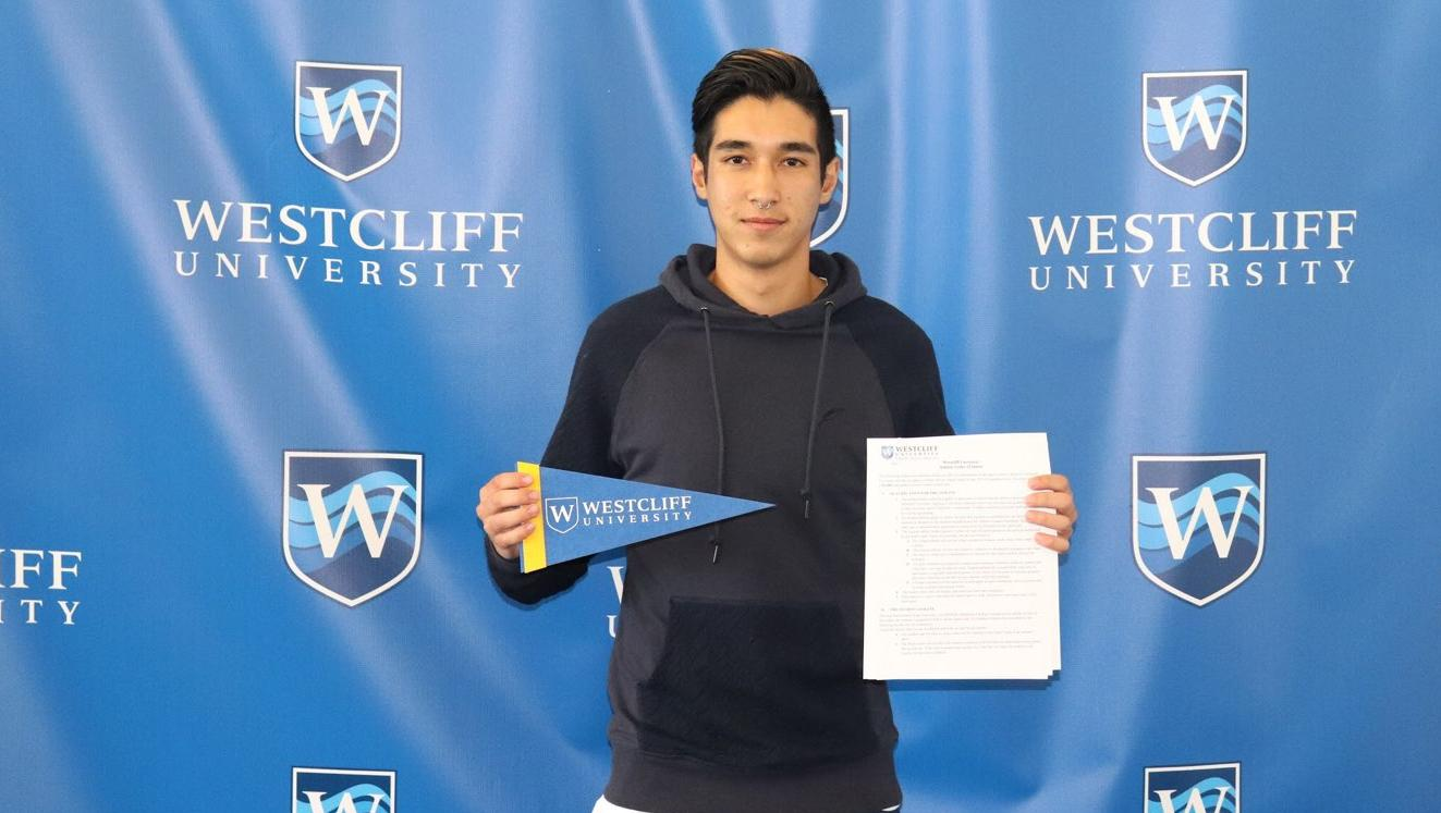Men's soccer player Daniel Segal signs with Westcliff University