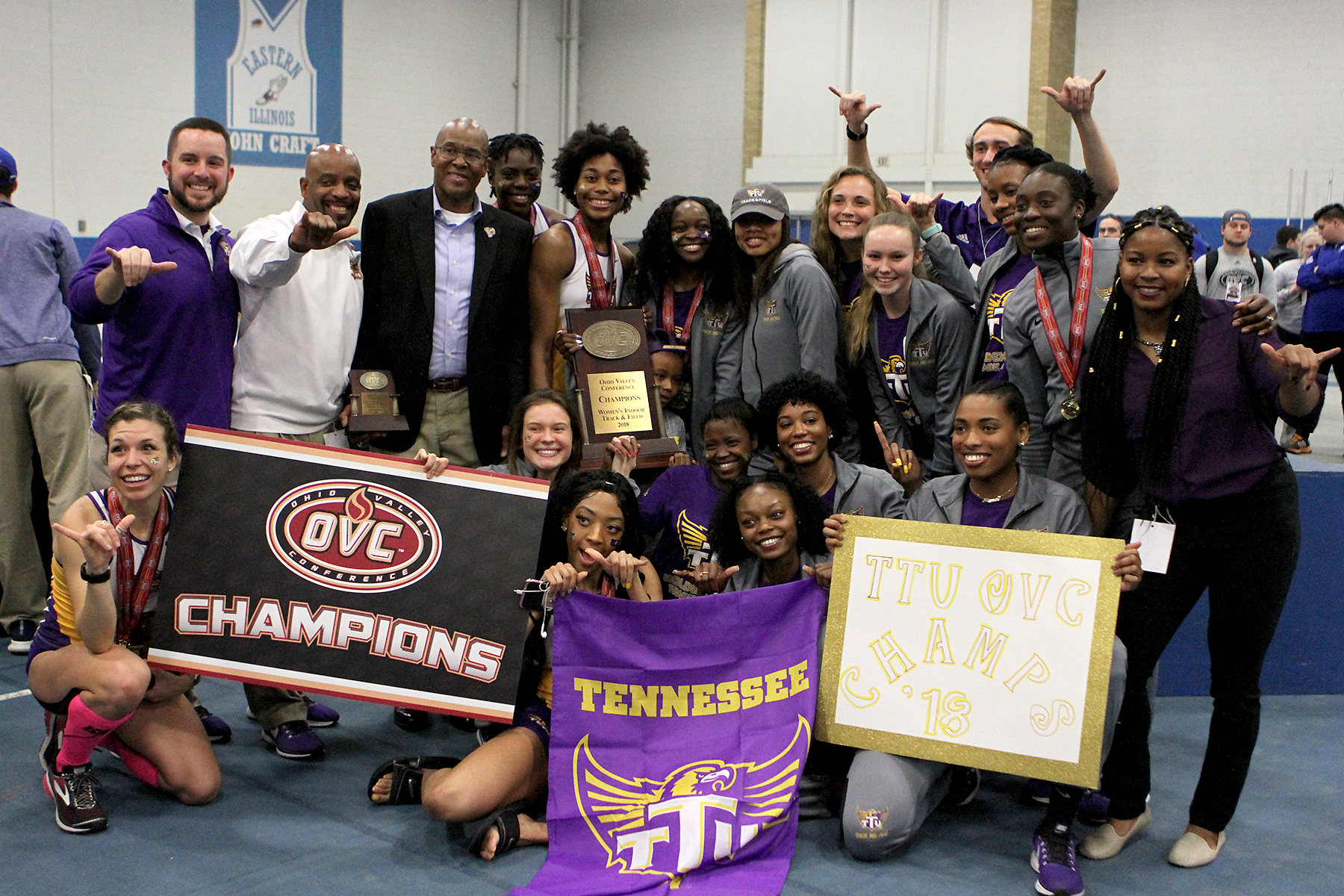 Tech wins first-ever OVC Indoor Championship