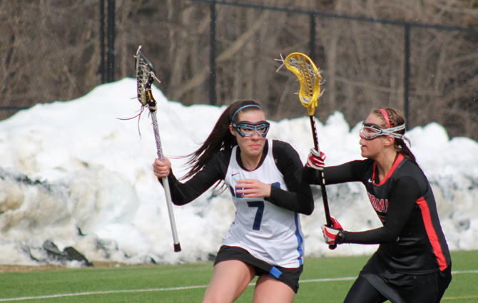Women's Lacrosse Outlasts Fitchburg State, 13-8