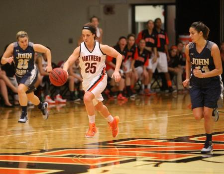 Key scores by junior Brooke Espenschied lead Women's Basketball to 73-70 win over previously unbeaten John Carroll