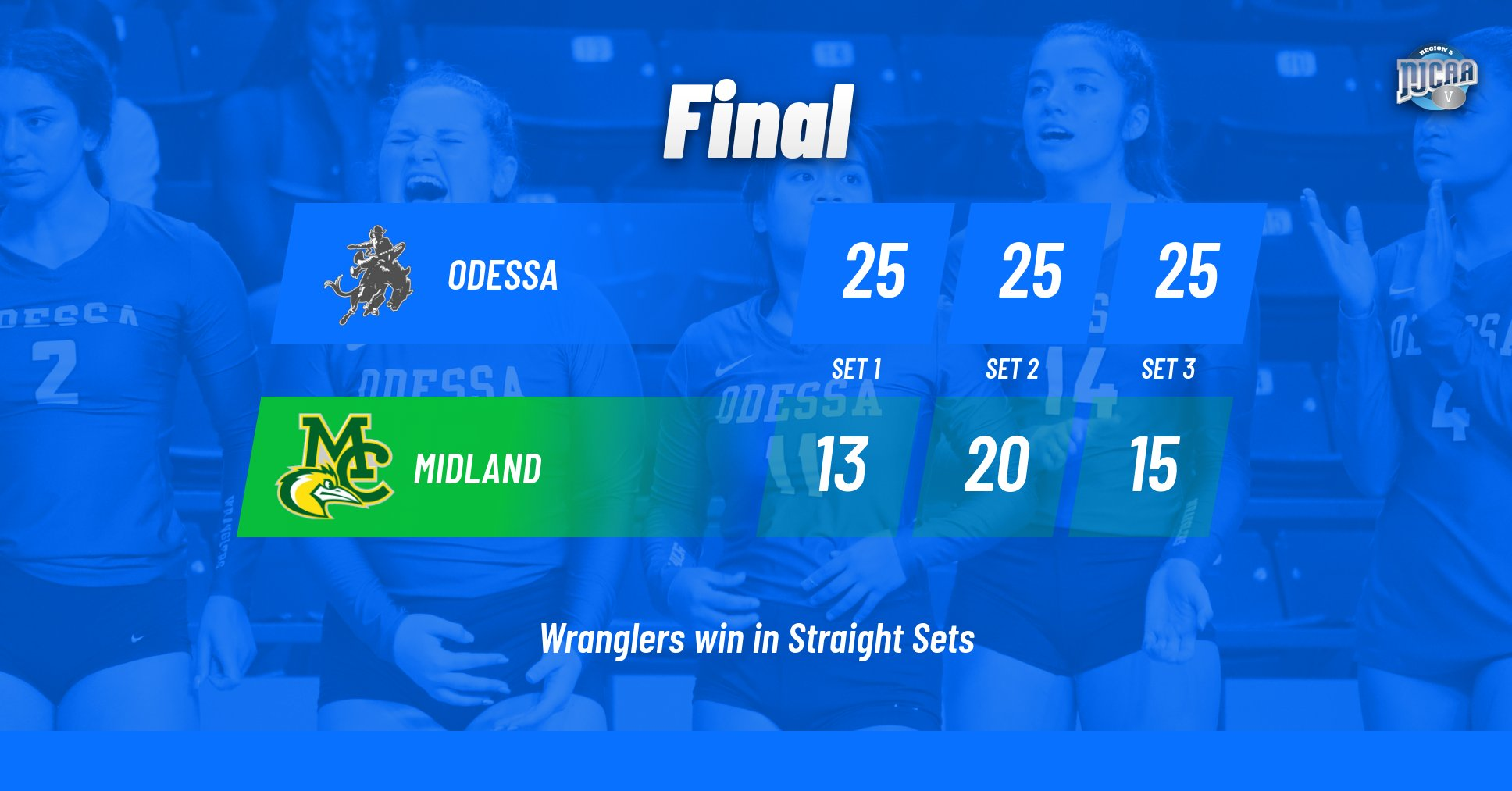 Wrangler Volleyball takes down Midland in Straight Sets