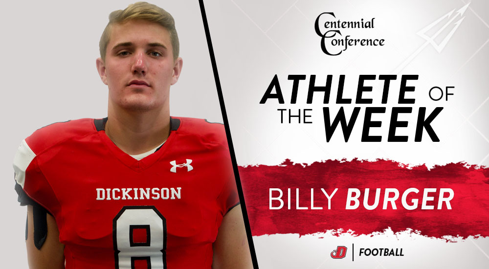 Burger Named CC Special Teams Player of the Week